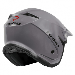Hebo Zone 5 Mono Grey Trials Helmet Image 4