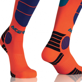 Acerbis Kids Impact Fluo Orange Blue Motocross Socks Image 3
