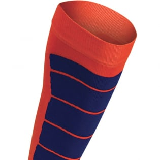 Acerbis Kids Impact Fluo Orange Blue Motocross Socks Image 4