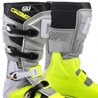 Gaerne GXJ Kids Grey Flo Yellow Boots Image 2