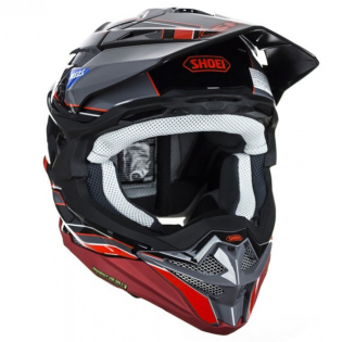 Shoei VFX-WR Allegiant TC1 Red Helmet Image 2