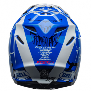 Bell Moto 9 Carbon Flex Fasthouse Day in the Dirt Blue White Gloss Helmet  Image 2