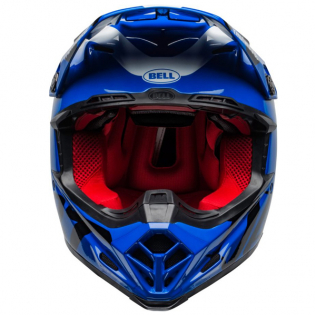 Bell Moto 9 Carbon Flex Fasthouse Day in the Dirt Blue White Gloss Helmet  Image 3