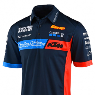Troy Lee Designs 2020 KTM Team Pit Polo Shirt - Navy Image 2