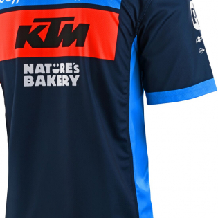 Troy Lee Designs 2020 KTM Team Pit Polo Shirt - Navy Image 4