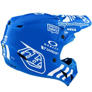 Troy Lee Designs SE4 LE Adidas Team Blue Composite Helmet Image 2