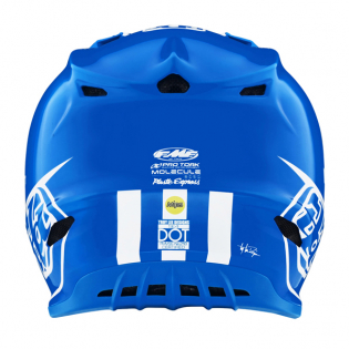 Troy Lee Designs SE4 LE Adidas Team Blue Composite Helmet Image 4