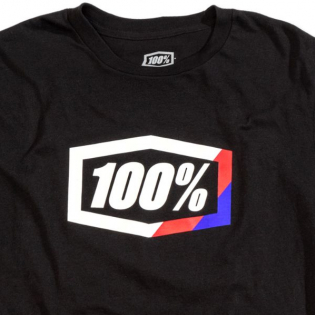 100% Kids Stripes Black T Shirt Image 2