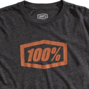 100% Essential Charcoal Heather Bronze T-Shirt Image 2