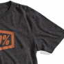 100% Essential Charcoal Heather Bronze T-Shirt