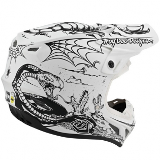 Troy Lee Designs SE4 Carbon Le Stranded White Helmet Image 2