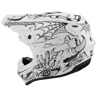 Troy Lee Designs SE4 Carbon Le Stranded White Helmet Image 3