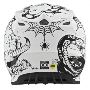 Troy Lee Designs SE4 Carbon Le Stranded White Helmet Image 4
