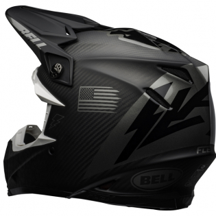 Bell Moto 9 Carbon Flex Slayco Matte/Gloss Black Grey Helmet Image 3