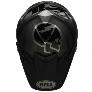 Bell Moto 9 Carbon Flex Slayco Matte/Gloss Black Grey Helmet Image 4