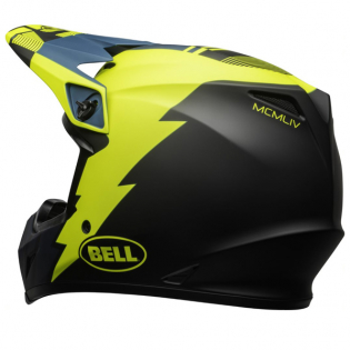 Bell MX9 MIPS Strike Blue Yellow Helmet Image 2