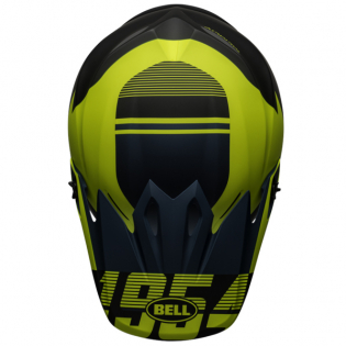 Bell MX9 MIPS Strike Blue Yellow Helmet Image 4
