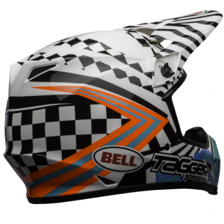 MX9 MIPS Tagger Check Me Out White Black Helmet Image 2