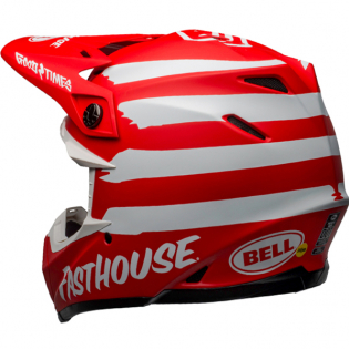 Bell Moto 9 MIPS Fasthouse Signia Red White Helmet Image 2