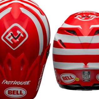 Bell Moto 9 MIPS Fasthouse Signia Red White Helmet Image 3