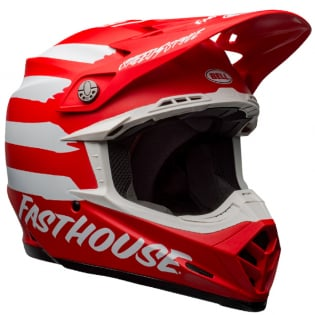 Bell Moto 9 MIPS Fasthouse Signia Red White Helmet Image 4