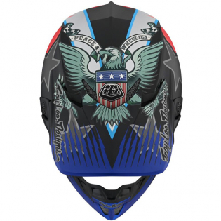Troy Lee Designs SE4 Composite Helmet - LE Liberty Matte Black Image 3