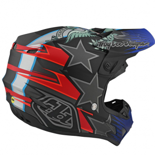 Troy Lee Designs SE4 Composite Helmet - LE Liberty Matte Black Image 4