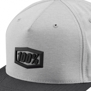 100% Enterprise Charcoal Snapback Hat Image 3