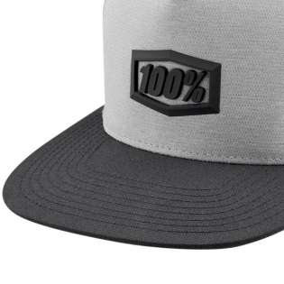 100% Enterprise Charcoal Snapback Hat Image 4