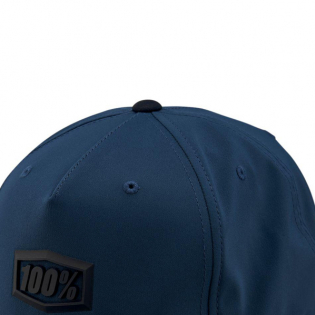 100% Enterprise Blue Snapback Hat Image 2