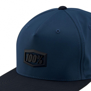 100% Enterprise Blue Snapback Hat Image 3