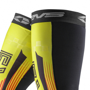 EVS Fusion Hi Viz Red Knee Brace Sleeve & Sock Image 2