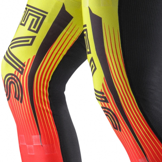 EVS Fusion Hi Viz Red Knee Brace Sleeve & Sock Image 3