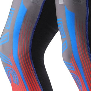 EVS Fusion Blue Red Knee Brace Sleeve & Sock Image 3