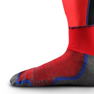 EVS Fusion Blue Red Knee Brace Sleeve & Sock Image 4