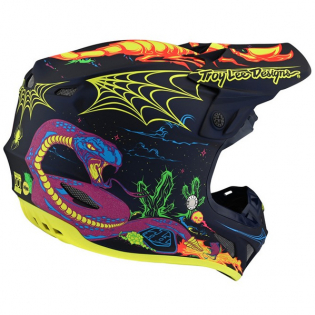 Troy Lee Designs SE4 Composite LE Stranded Navy Helmet Image 2