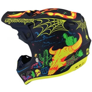 Troy Lee Designs SE4 Composite LE Stranded Navy Helmet Image 3