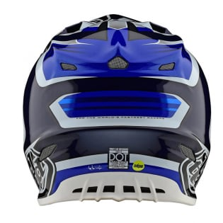 Troy Lee Designs SE4 Carbon Helmet - Spring Flash Blue White Image 2