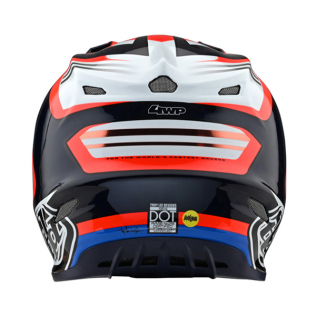 Troy Lee Designs SE4 Carbon Helmet - Flash Blue Red Image 3