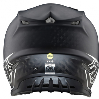 Troy Lee Designs SE4 Carbon Helmet - Midnight Black Chrome Image 2