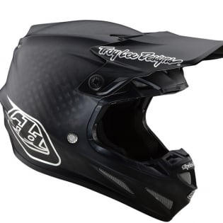 Troy Lee Designs SE4 Carbon Helmet - Midnight Black Chrome Image 3