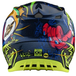 Troy Lee Designs SE4 Composite - Eyeball Navy Yellow Image 2