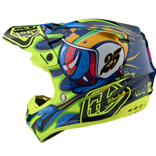 Troy Lee Designs SE4 Composite - Eyeball Navy Yellow Image 3