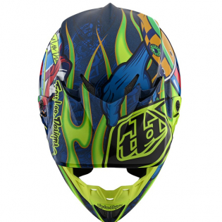 Troy Lee Designs SE4 Composite - Eyeball Navy Yellow Image 4