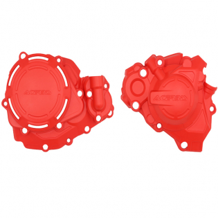 Acerbis X-Power Honda Red Engine Cover Kit Image 4