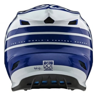 Troy Lee Designs GP Silhouette Navy White Helmet Image 2