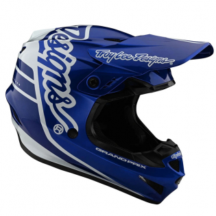 Troy Lee Designs GP Silhouette Navy White Helmet Image 3