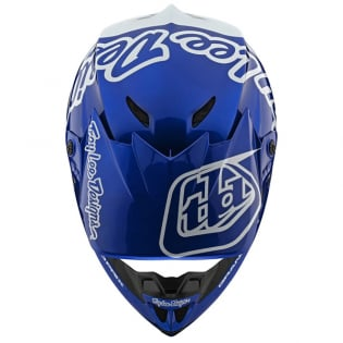 Troy Lee Designs GP Silhouette Navy White Helmet Image 4