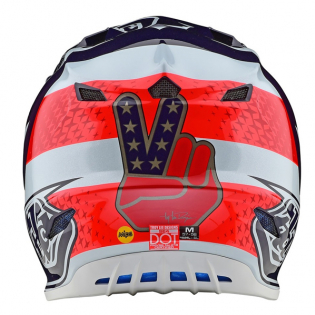 Troy Lee Designs SE4 Polyacrylite Helmet - Freedom Red White Image 2
