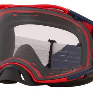 Oakley Airbrake Heritage B1B Red Navy Prizm Low Light MX Goggles Image 3